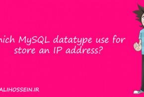 مناسبت ترین datatype برای ذخیره ip در mysql